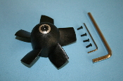 HET 9305 EDF 90mm Rotor Assy with 5mm collet